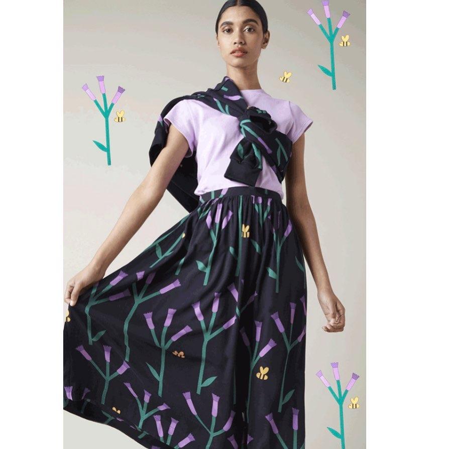 Clustertop Midi Skirt