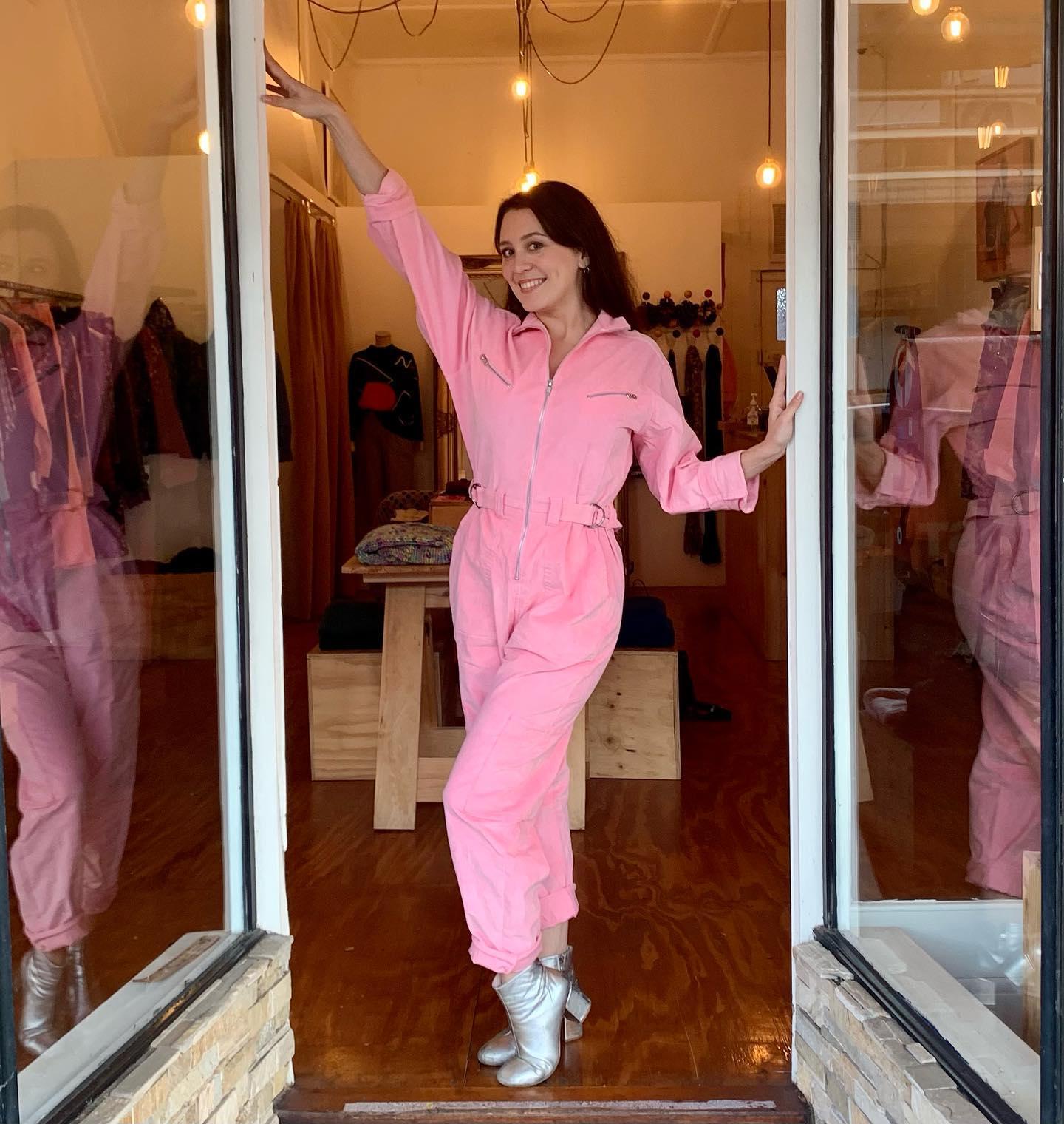 Pink Corduroy Boiler Suit