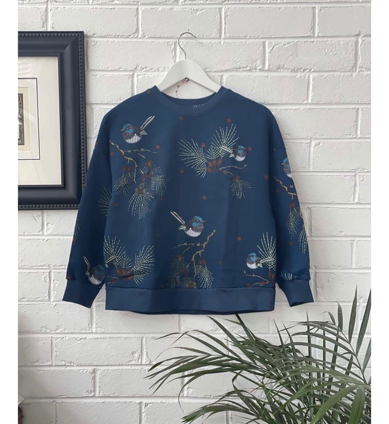 Blue Wren Sweater